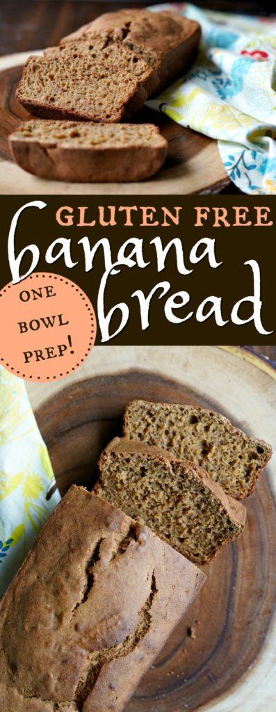 Easy One Bowl Gluten Free Banana Bread