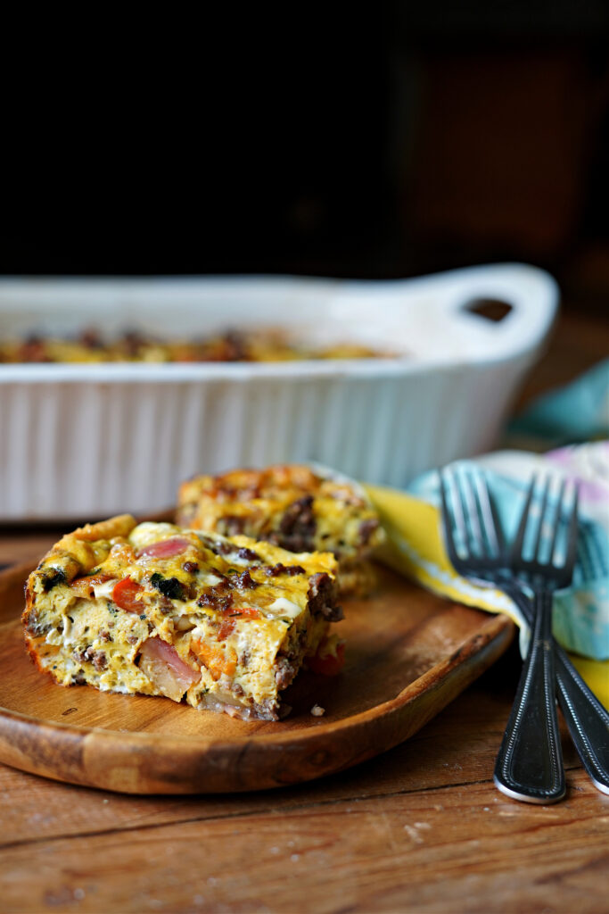 Apple, Sweet Potato, and Sausage Breakfast Casserole