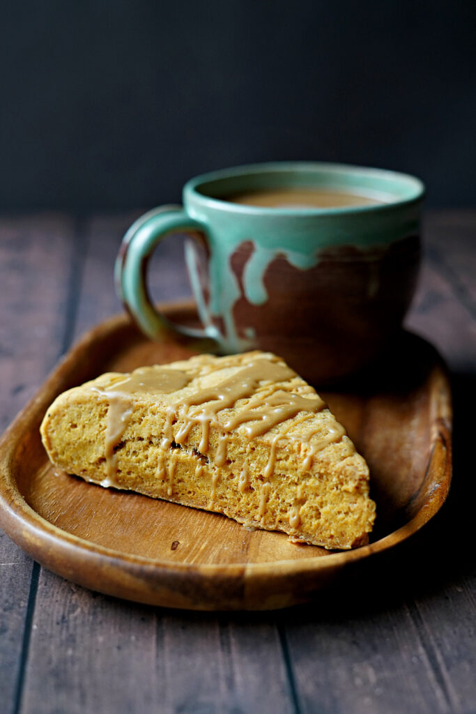 Gluten Free Pumpkin Scones with Brown Sugar Glaze