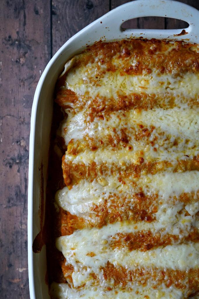 Gluten Free Pumpkin Enchiladas