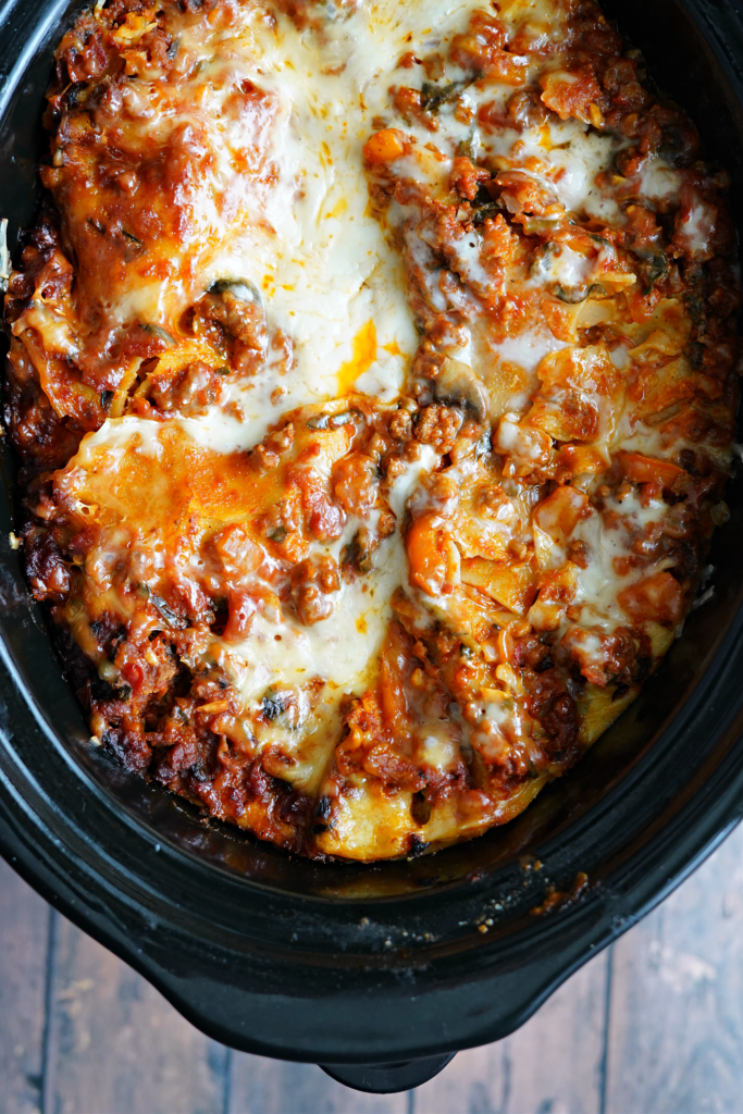 Kid Friendly Veggie Packed Slow Cooker Lasagna