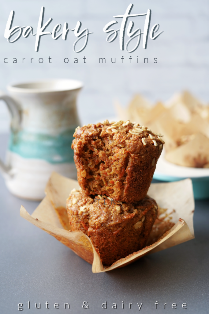Bakery Style Carrot Oat Muffins :: Gluten Free & Dairy Free