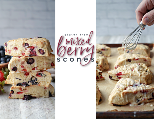 Gluten Free Mixed Berry Scones