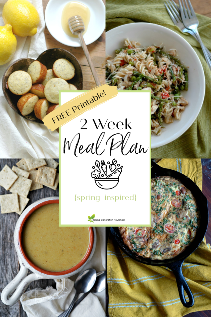 Nourishing 2 Week Meal Plan {Spring Inspired Part 1}